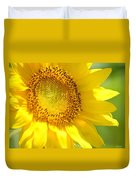 Heart Of The Sunflower Duvet Cover