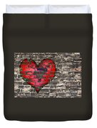 Heart On The Old Wall Duvet Cover