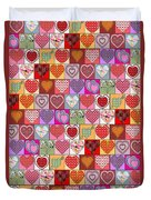 Heart Patches Duvet Cover