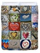 Heart Shape Collage  Duvet Cover