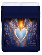 Heart Shape On Sunset Sky Duvet Cover