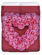 Heart-shaped Floral Arrangement Duvet Cover