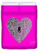Heart Shaped Lock - Pink Duvet Cover