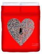 Heart Shaped Lock - Red Duvet Cover