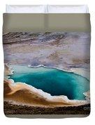 Heart Spring Yellowstone National Park Duvet Cover