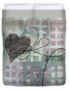 Heart String Abstract- Art  Duvet Cover