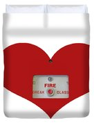 Heart Symbol With Emergency Button Duvet Cover
