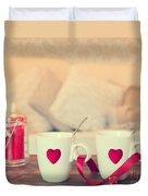 Heart Teacups Duvet Cover