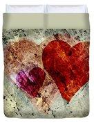 Hearts 10 Square Duvet Cover