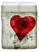 Hearts 3 Square Duvet Cover