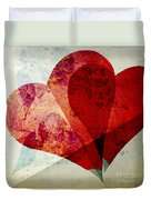 Hearts 5 Square Duvet Cover
