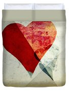 Hearts 6 Square Duvet Cover