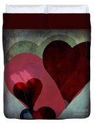 Hearts 9 Square Duvet Cover