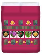Hearts And Flowers 2 Duvet Cover