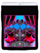 Hearts Ballet Curtain Call Fractal 121 Duvet Cover
