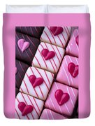 Hearts On Candy Duvet Cover