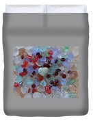 Hearts On Sea Glass Duvet Cover