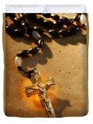 Heavenly Light Rosary  Duvet Cover