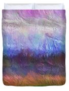 Heaven And Earth Mixed Media Painting Duvet Cover