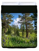 Heaven In The High Country Duvet Cover