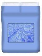 Heavenly Blue Dahlia Duvet Cover