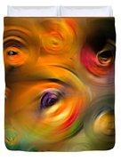 Heaven's Eyes - Abstract Art By Sharon Cummings Duvet Cover