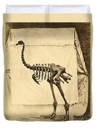 Heavy Footed Moa Skeleton Duvet Cover