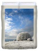 Heavy Frost Duvet Cover by Anne Gilbert