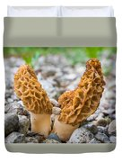 Heavy Lifting Morels Duvet Cover