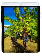 Heavy On The Vine At The High Tower Winery  Duvet Cover