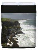 Heavy Surf On The Irish Coast Duvet Cover