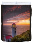 Heceta Head Lighthouse Duvet Cover