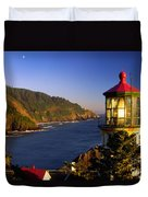 Heceta Head Moonrise Duvet Cover