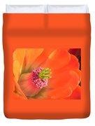 Hedgehog Cactus Flower Duvet Cover