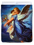 Heiliger Schutzengel  Guardian Angel 7 Oil Duvet Cover