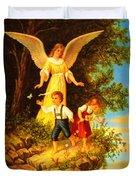 Heiliger Schutzengel Guardian Angel 8 Oil Duvet Cover