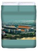 Heinz Field Panorama Duvet Cover