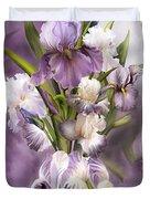 Heirloom Iris In Iris Vase Duvet Cover