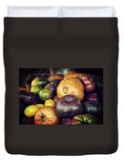 Heirloom Tomatoes At The Farmers Market Duvet Cover by Scott Norris