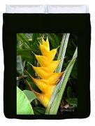 Heliconia Caribea Duvet Cover