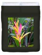 Heliconia Psittacorum Duvet Cover