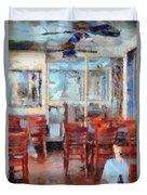 Hellas Restaurant And Bakery  Duvet Cover by L Wright