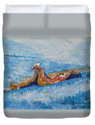 Hello Young Lovers In Blue Duvet Cover