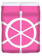 Helm In White And Pink Duvet Cover