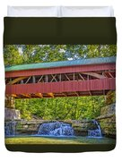 Helmick Mill Or Island Run Covered Bridge  Duvet Cover