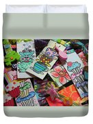 Help Children Read With Book Marks Hand Painted Two Duvet Cover