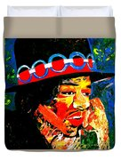 Hendrix Rocks Duvet Cover