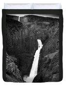 Hengifoss Waterfall Duvet Cover