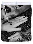 Henna Artist At Play Duvet Cover