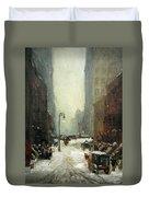 Henri's Snow In New York Duvet Cover